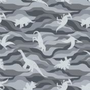 Lewis & Irene - Kimmeridge Bay - 6224 - Dinosaurs in Grey - A305.3 - Cotton Fabric